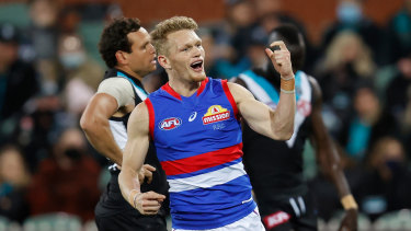 Adam Treloar had a real impact against the Power.