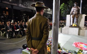 Anzac Day dawn service in Martin Place last year on April 25.
