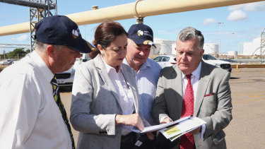 Queensland Premier Annastacia Palaszczuk at the Port of Townsville last month.