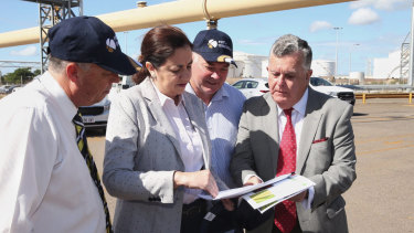 Queensland Premier Annastacia Palaszczuk in  Townsville last week. Ms Palaszczuk was in Gladstone this week after travelling to Japan.