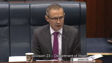WA Health Minister Roger Cook fronting questions during budget estimates committee hearings.