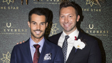Ian Thorpe and boyfriend Ryan Channing at The Star's Everest event.