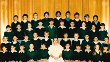 LibbyLyonswhen teaching at St Clare's Primary School in Thomastown in 1985.