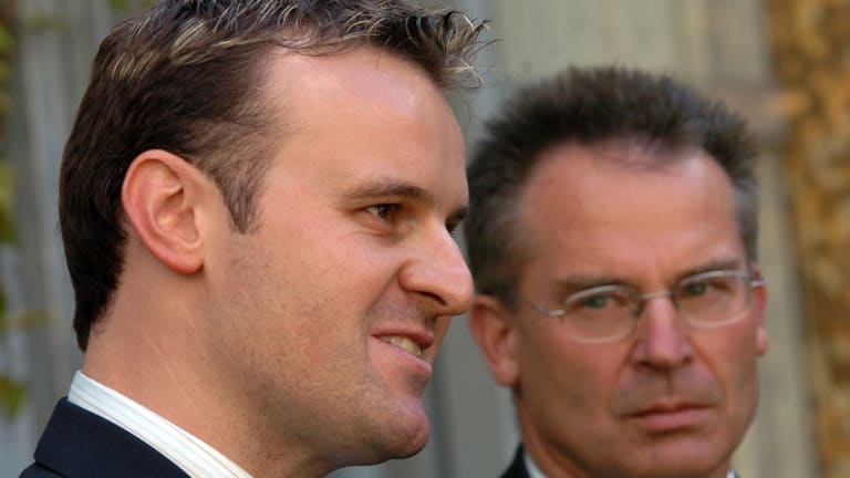 Andrew Barr and his blond highlights, when he was announced as a minister in 2006.