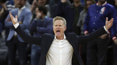 Warriors coach Steve Kerr was also unhappy with a call during the Timberwolves game.