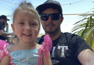 Cleo Smith with her father Jake Gliddon.