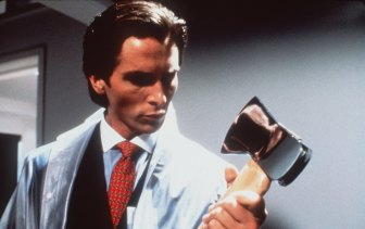 Christian Bale plays Patrick Bateman in a film adaption of the novel 'American Psycho'.