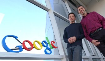 'Don't be evil': Google co-founders Sergey Brin, left, and Larry Page at their company headquarters in 2004.