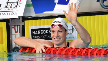 Focussed: Emily Seebohm is determined to compete at the Pan-Pacs despite her split with Mitch Larkin.