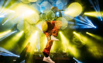 Lil Yachty, who appeared at Hidden on Saturday, performing at Splendour in the Grass in 2017.
