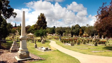 A renewed section of Karrakatta Cemetery which now includes a memorial garden.