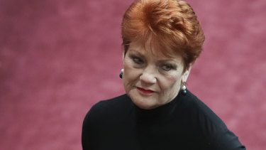 Pauline Hanson lost a motion in the Senate on 'It's Ok to be white'.