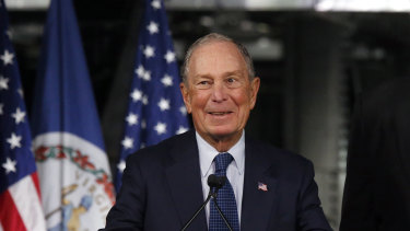 Democratic presidential candidate and former New York mayor Mike Bloomberg.