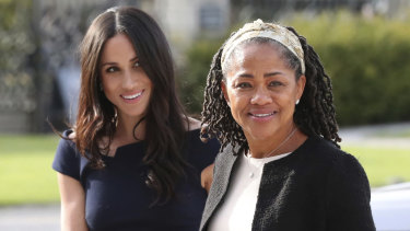 Meghan Markle and her mother, Doria Ragland, arrive at Cliveden House Hotel the night before her wedding.