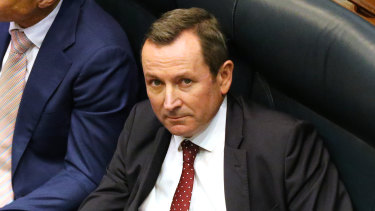 West Australian Premier Mark McGowan on the floor of WA's Legislative Assembly the government's euthanasia legislation passes parliament.