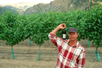 Sam Neill at his winery, Two Paddocks.