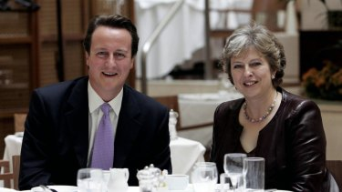 David Cameron and Theresa May pictured in 2007.