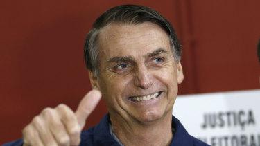 Brazilian presidential frontrunner Jair Bolsonaro, of the Social Liberal Party.