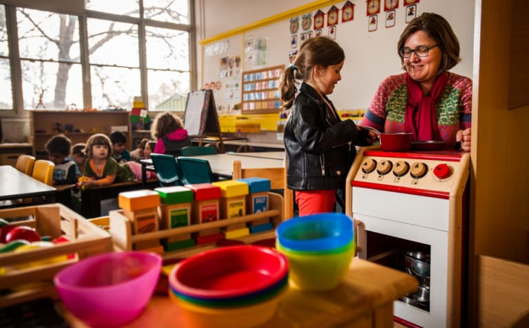 Labor plans to extend preschool funding to cover three-year-olds as well.