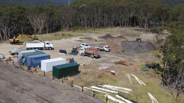 Police last month located an illegal dump of asbestos-contaminated waste from a Sydney construction site at a private property on the state's central coast.
