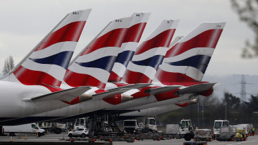 BA's passenger traffic dropped 95 per cent from a year earlier in the second quarter.
