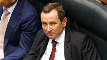 West Australian Premier Mark McGowan on the floor of WA's Legislative Assembly the government's euthanasia legislation passes parliament.