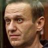 Russian President Vladimir Putin and dissident Alexi Navalny.