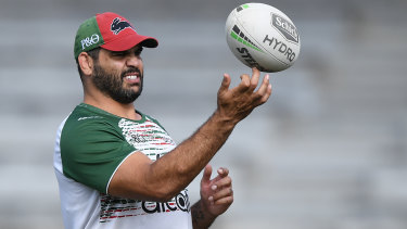 Out of action: South Sydney have given Greg Inglis the week off after he showed up to training on Monday ill.