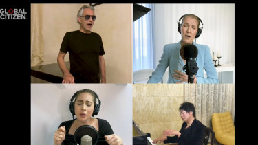 Andrea Bocelli, Celine Dion and Lady Gaga close the Global Citizen online music festival One World: Together Alone