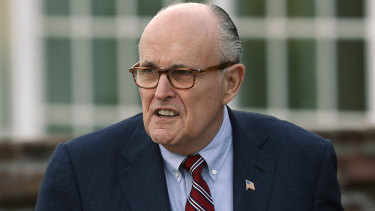 Former US attorney-general and mayor of New York Rudy Giuliani  is now on Trump's legal team.