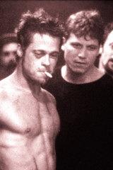 Brad Pitt in <i>Fight Club</i>.