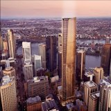An artists' impression of Aria Property Group's proposed 274-metre tower at 155 Edward Street, Brisbane.