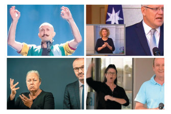 Auslan interpreters get into the spirit of the words they're conveying.