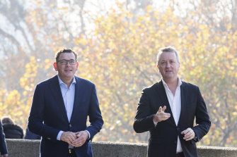 Premier Daniel Andrews and Mental Health Minister Martin Foley announced a $60 million mental health package on Sunday.