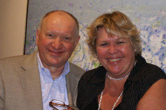 Lucio and Sally Galletto at the launch of one of his cookbooks in 2007.