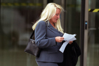 Nicola Gobbo photographed on her way to court in the 2000s.