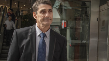 Laki Konistis after giving evidence at ICAC on Tuesday.