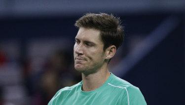 Matt Ebden was beaten in three sets in Halle.