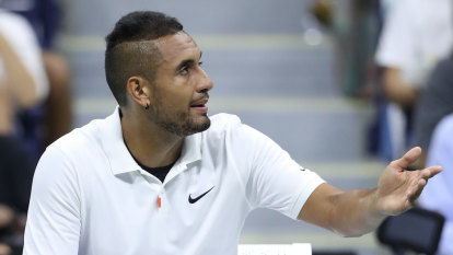 Kyrgios full of odd excuses in typically dramatic exit from US Open