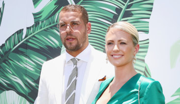 Lance 'Buddy' Franklin and wife Jesinta.