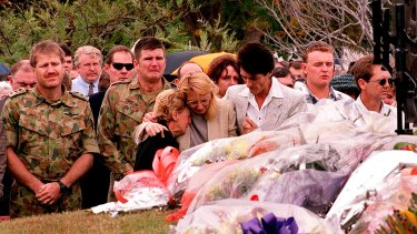 The commemorative service for the victims of the Black Hawk helicopters crash