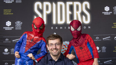 Into the spider-verse: the museum's Principal Curator of Arachnology Dr Michael Rix said he hoped the exbition demystified spiders.