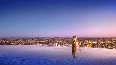 Brisbane's Skytower will have the highest infinity pool in the world.