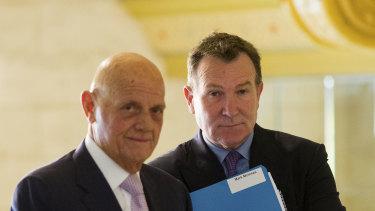 Premier chairman Solomon Lew and chief executive Mark McInnes.