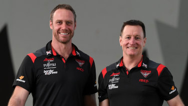 In tandem: Ben Rutten (left) and John Worsfold.