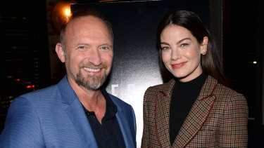 Messiah creator Michael Petroni with star Michelle Monaghan.
