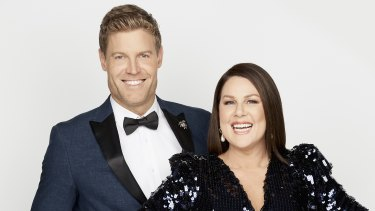 I'm A Celebrity ... Get Me Out of Here! hosts Dr Chris Brown and Julia Morris.