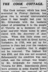 A 1934 story in The Age on controversies surrounding the cottage.