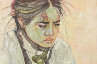 Pat Hoffie's was highly commended for her portrait of her daughter Visaya in a c-collar.