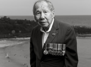 Portrait of veteran Gilbert Jan.